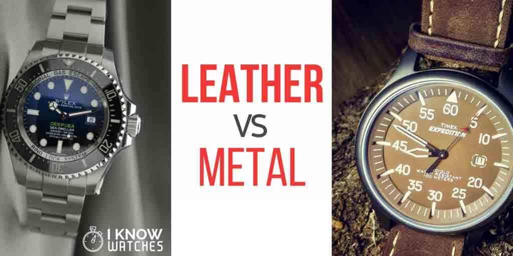Leather vs Metal Straps