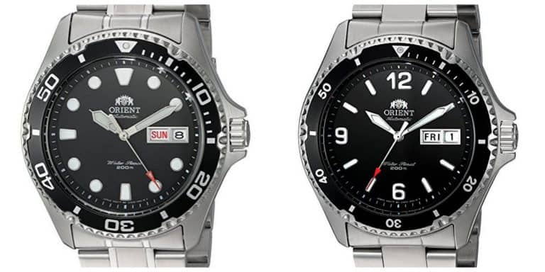 Orient Ray vs Mako markings