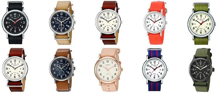 timex weekender models