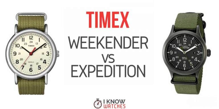 timex expedition vs weekender