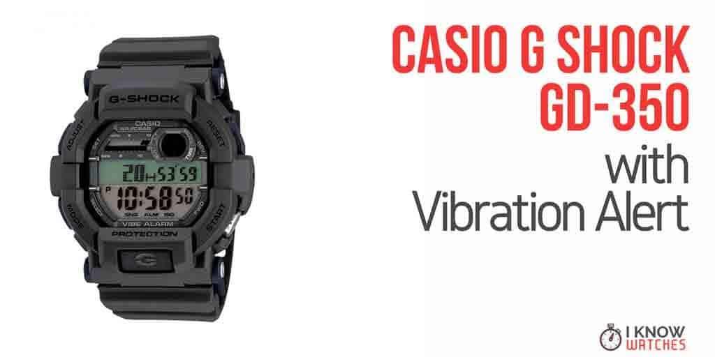casio g shock 350 vibration alert