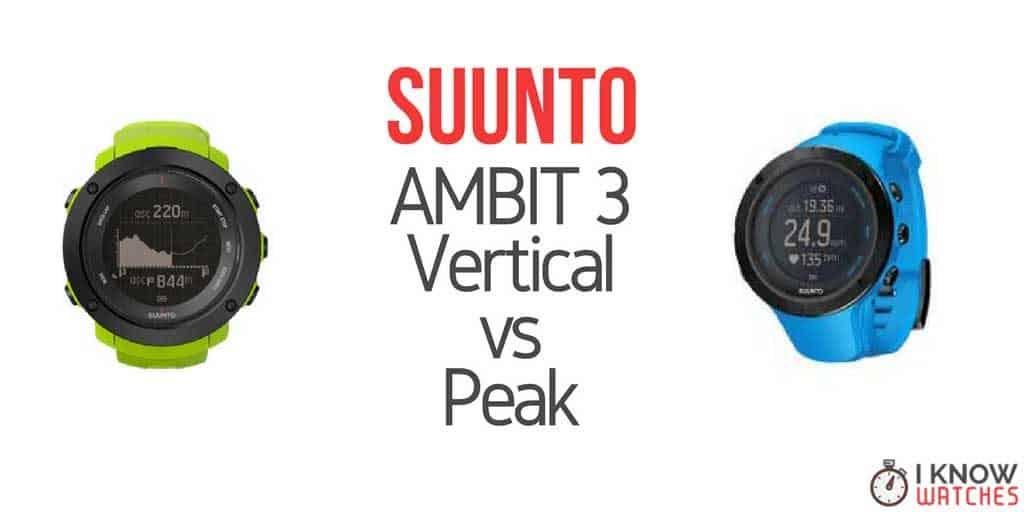 suunto ambit3 vertical vs peak