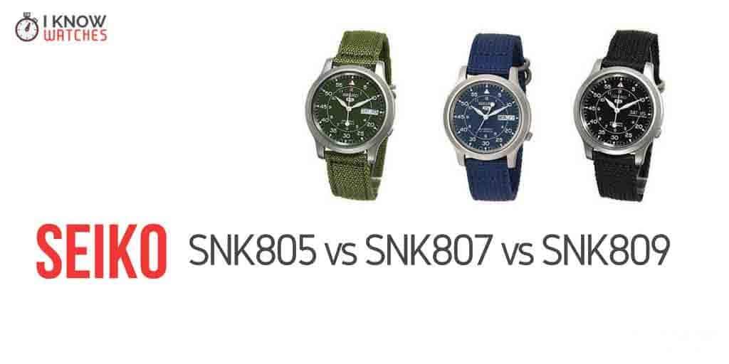 Seiko SNK805 vs SNK807 vs SNK809