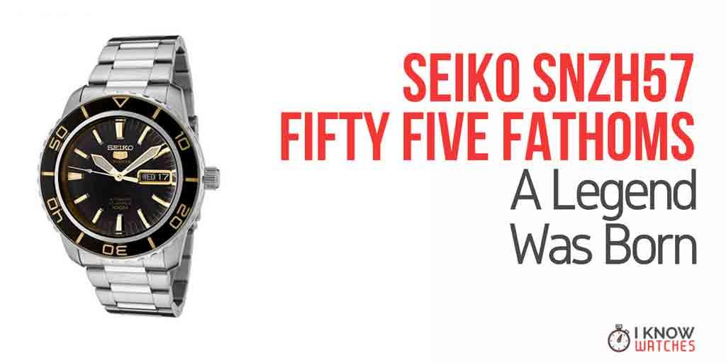 Seiko 5 SNZH57 Review & Fifty Five Fathoms - iknowwatches com