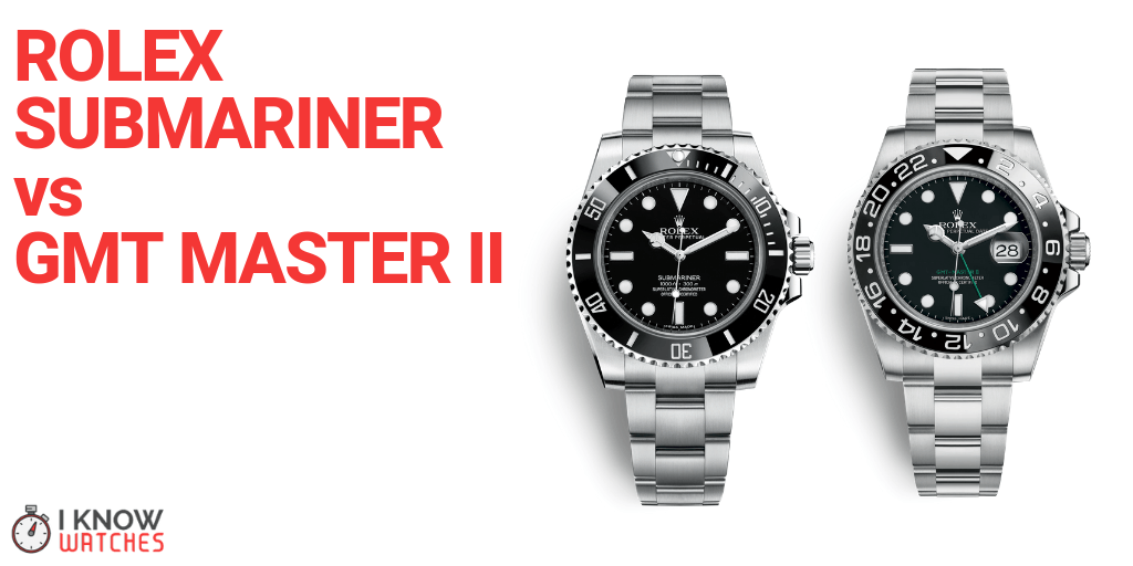 rolex submariner vs gmt master ii