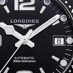 longines hydro conquest dial detail