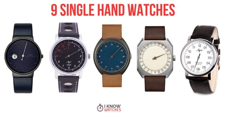 9 single hand watches