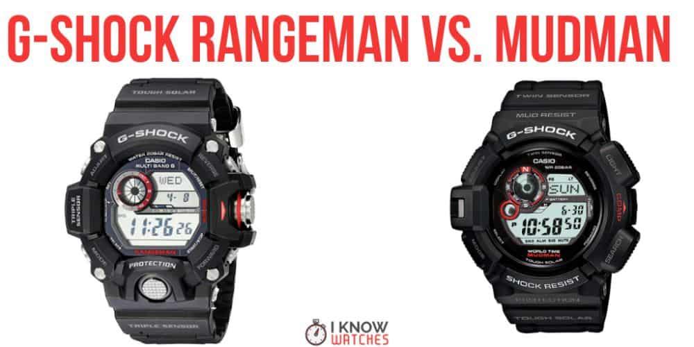 G-Shock Rangeman Vs Mudman