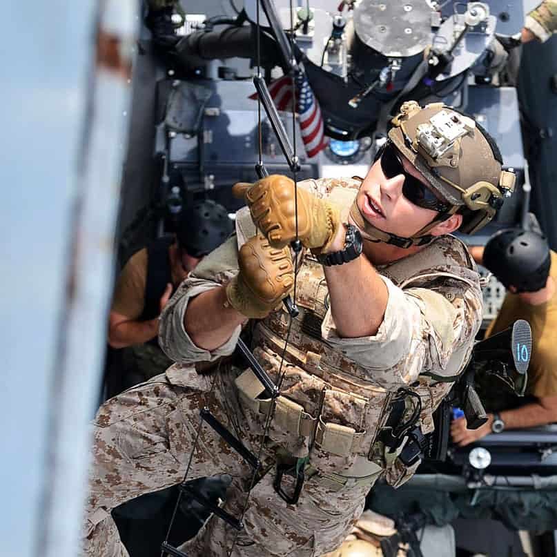 Navy SEAL wearing DW-6600 in training