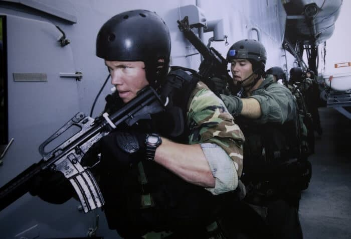 Navy SEAL wearing DW-6600 in action