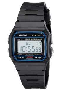 casio F91W-1 retro watch