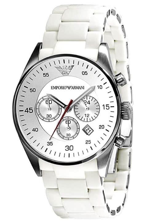 emporio amani white chronograph