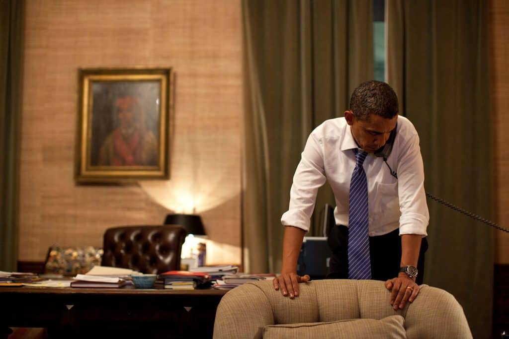 obama on phone wearing jorg-gray-watch