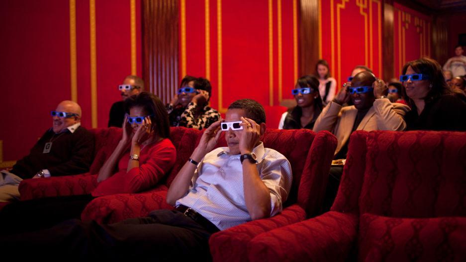 obama watching movie watch