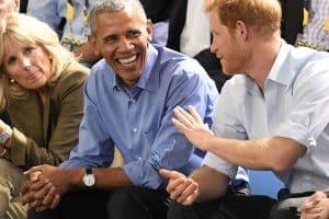 Obama wearing a Rolex Cellini