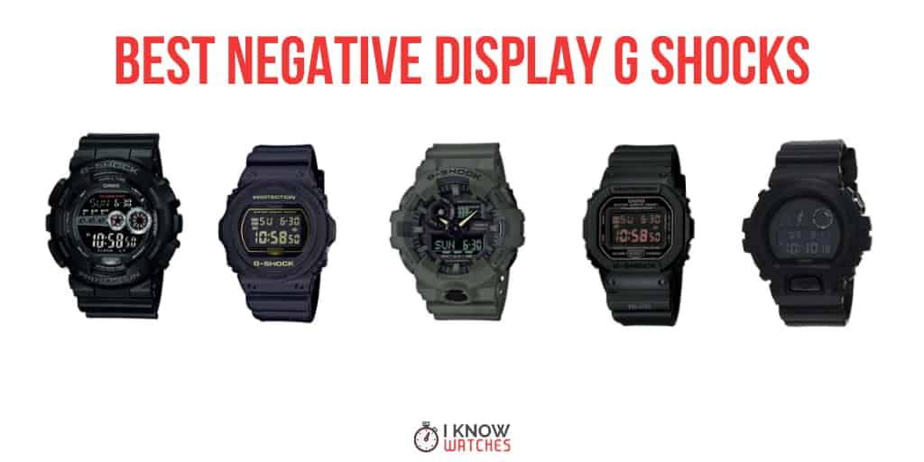g shocks with negative displays