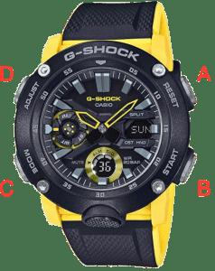 Casio G-Shock Buttons