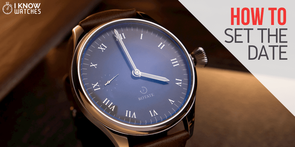how to set date on analog watch