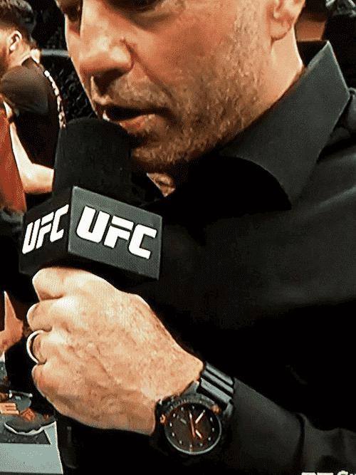Joe Rogan wearing the Traser H3 Red Combat watch