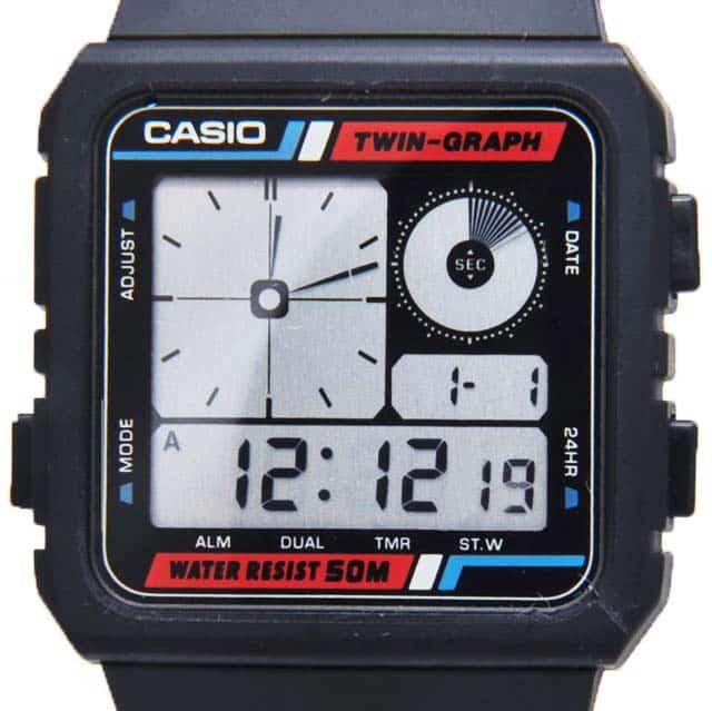 Casio AE-20W Twin Graph Dial