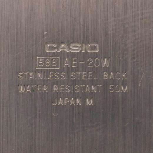 Casio AE-20W Twin Graph Case Back