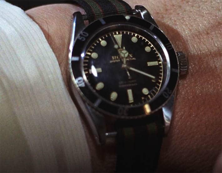 James Bond Nato Strap on Rolex Submariner Big Crown