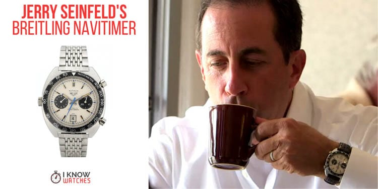 Jerry Seinfeld wearing the Vintage Heuer Autavia