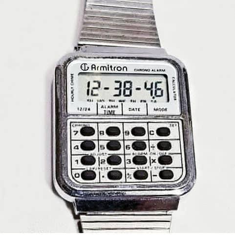 armitron calculator watch 1980