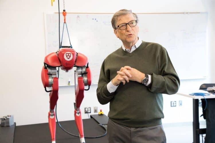 Bill Gates wearing Casio mdv-106-1av