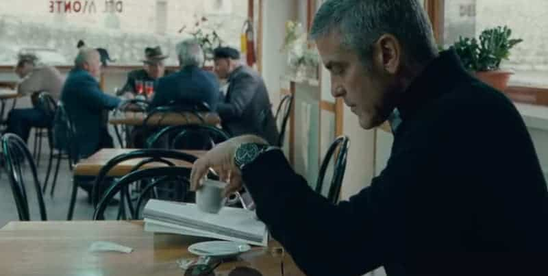 clooney in the american - omega speedmaster professional