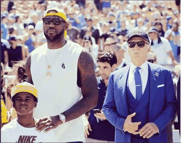 LeBron James wearing a Rolex Sky-Dweller