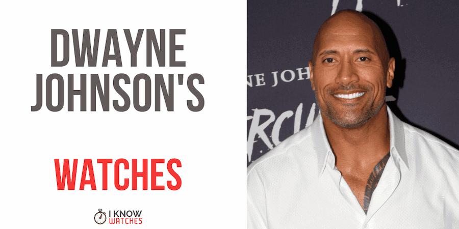 Dwayne Johnson's watches