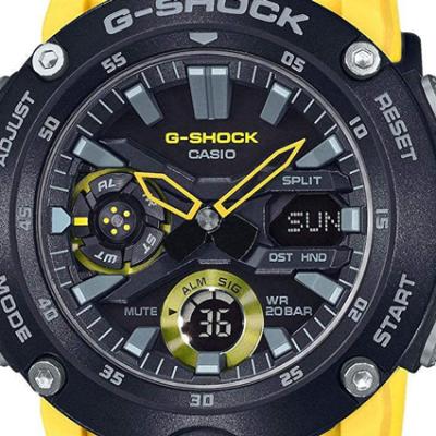 Casio G-Shock GA-2000-1A9 dial
