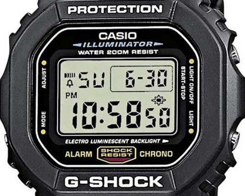 casio g-shock dw-5600 dial