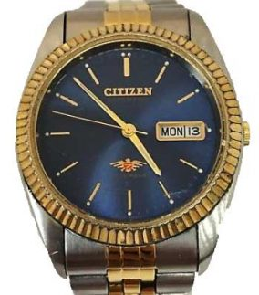 citizen eagle 7 gold blue