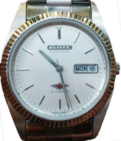 citizen eagle 7 white dial with steel