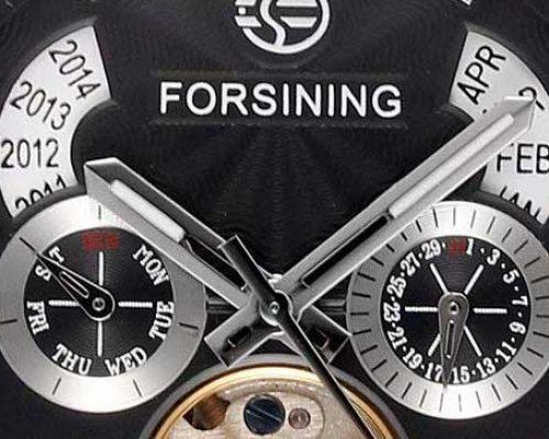 forsining automatic torbillon dial calendar