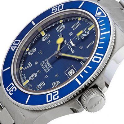 glycine sub combat blue dial