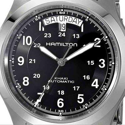 hamilton field khaki king auto dial H64455133