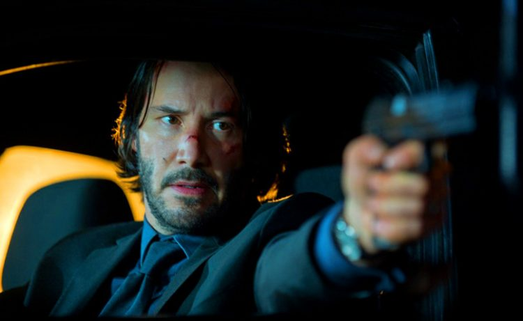 John Wick's watch on his inside wrist