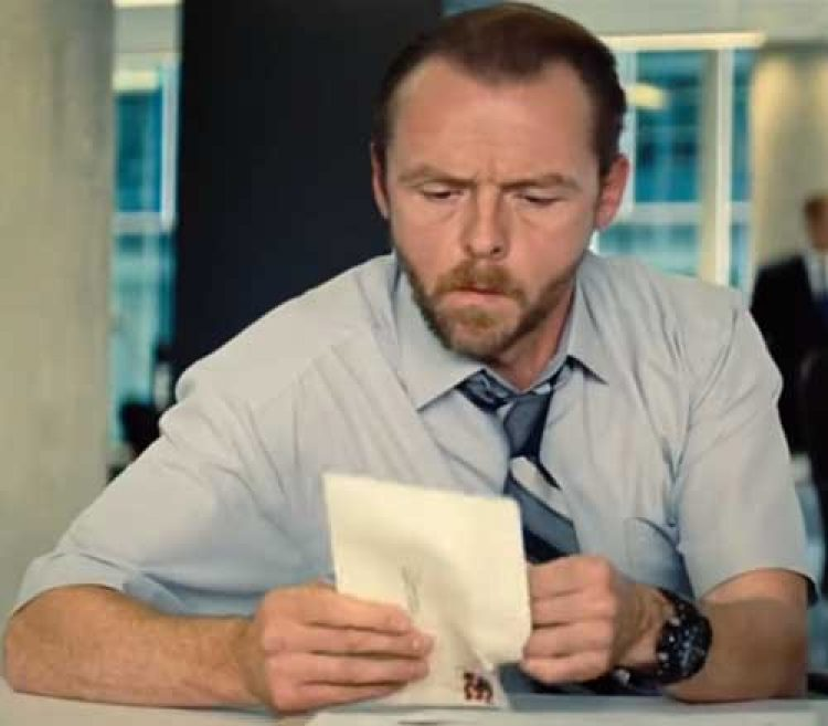 Simon Pegg Tissot Watch