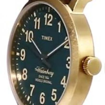 Timex Waterbury case from an angle