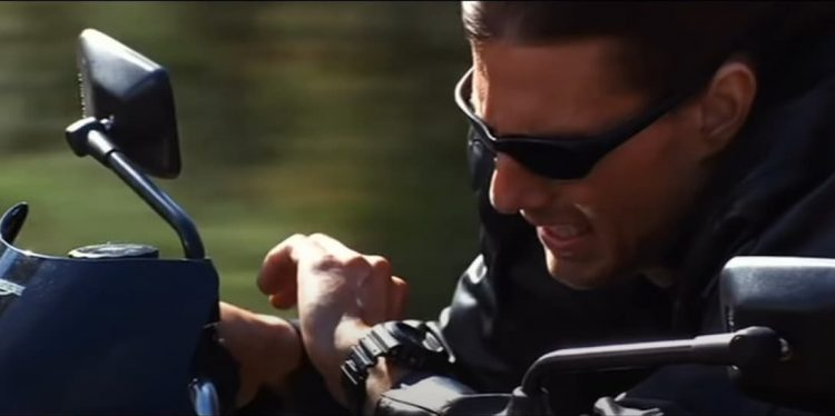 Tom Cruise wearing a Casio G-Shock in Mission Impossible 2